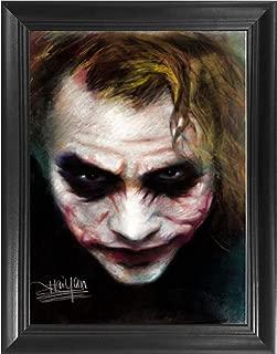 Joker Heath Ledger 3D Poster Wall Art Decor Framed Print | 14.5x18.5 | Lenticular Posters & Pictures | Memorabilia Gifts for Guys & Girls Bedroom | The Dark Knight Batman Movie, DC Comic Book Fan Art