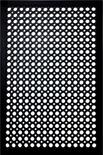 Shepherd Hardware 8104E Indoor/Outdoor Recycled Low Profile Floor 24 x 36 x 1/4 Inches, Black Rubber Mat, 2' x 3' x 1/4""
