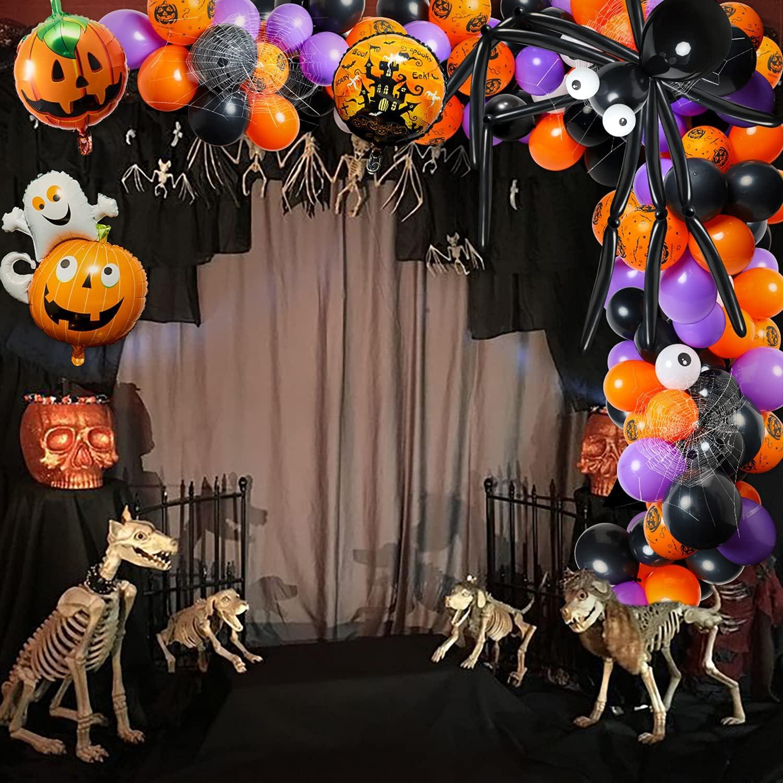 R HORSE 119Pcs Halloween Balloon Arch Garland Kit, Includes Spid