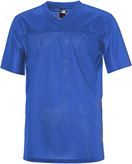 MOLPE Men's Replica Plain Football Jersey, V-Neck Football Shirt in Adult Sizes S-3XL