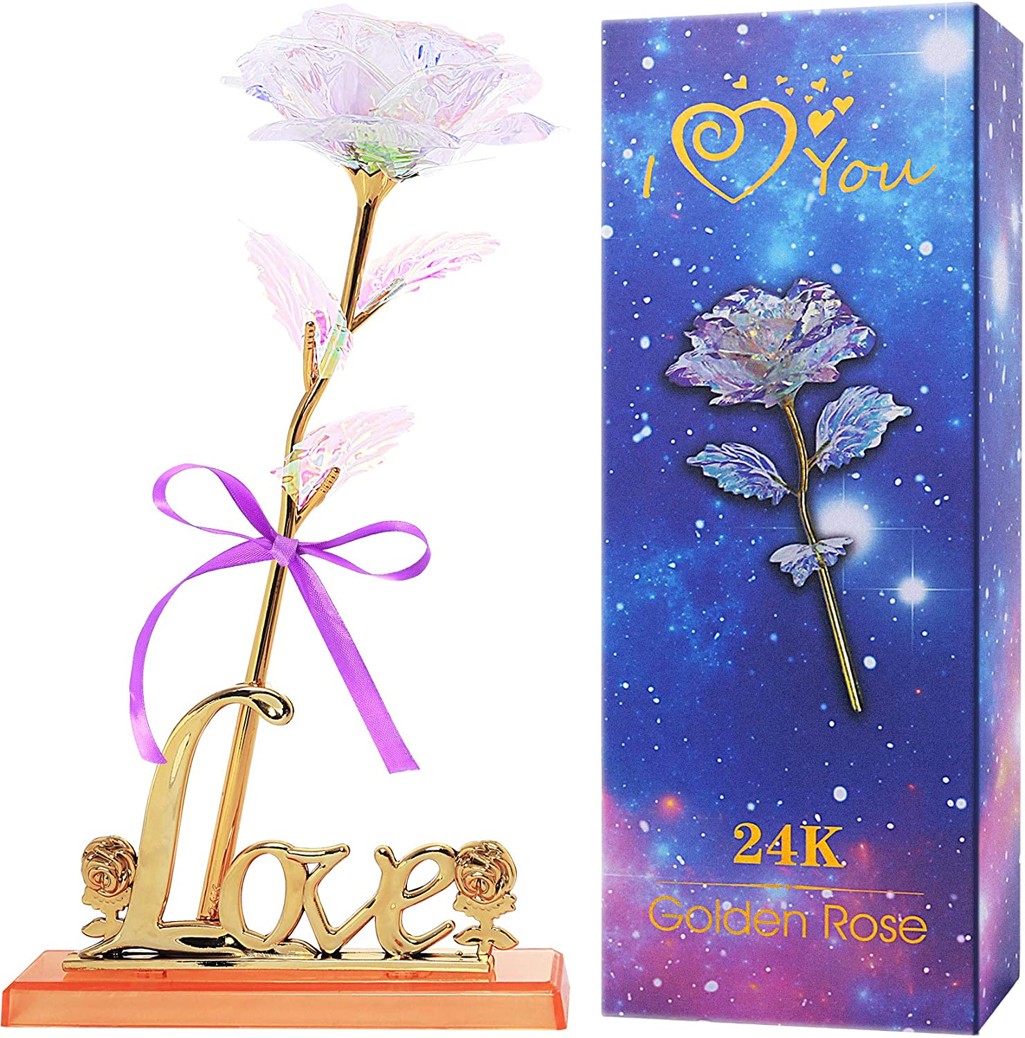 Colorful Rose Artificial Flower Gift Love with Stand Max 65% OFF Unique Gorgeous
