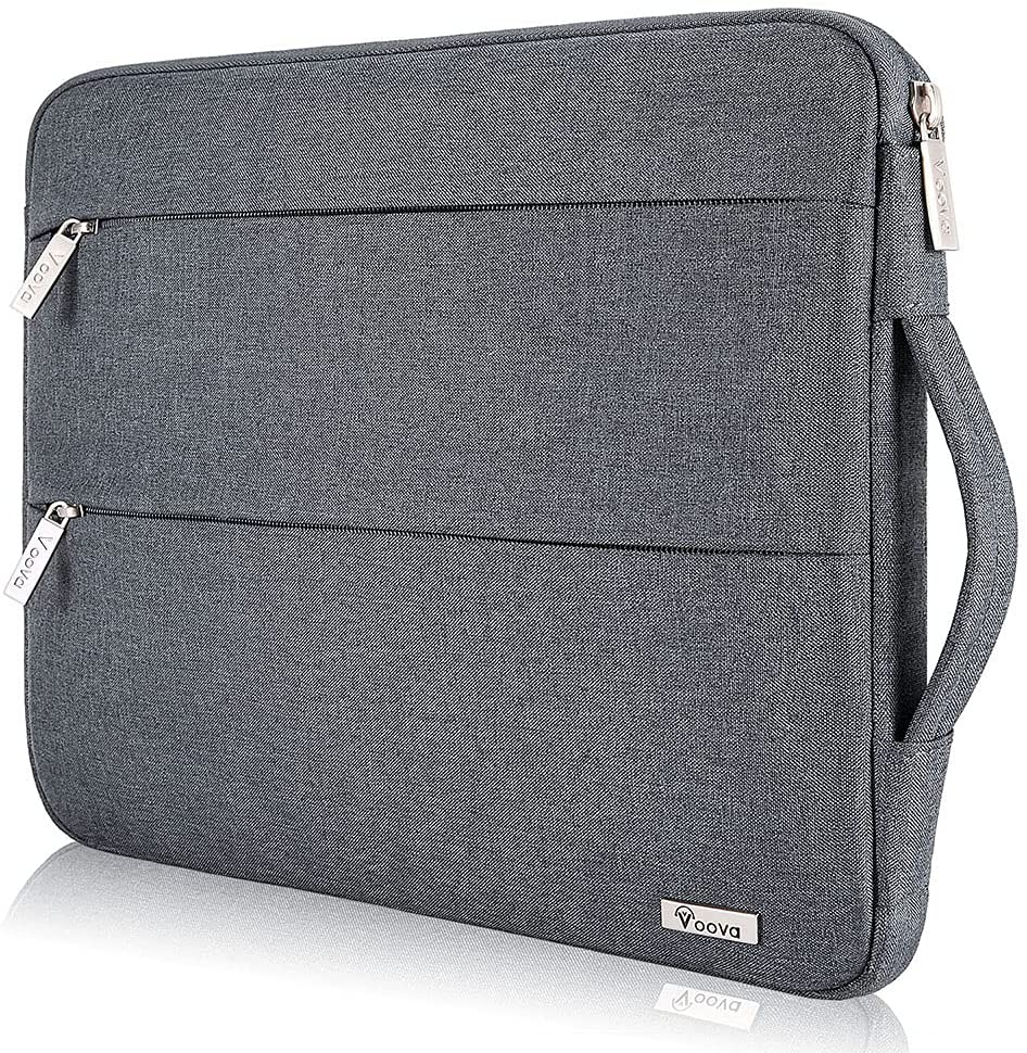 Voova 11 11.6 12 Inch Laptop Sleeve Case Cover, Water Resistant Computer Protective Bag Compatible with MacBook Air 11, Mac 12, Surface Pro X 7 6 5 4, Samsung Hp Acer Asus Chromebook 3/4 R11,Dark Grey