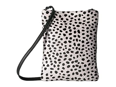 Leatherock Beatrice Cell Pouch (Hair Black/White) Cross Body Handbags