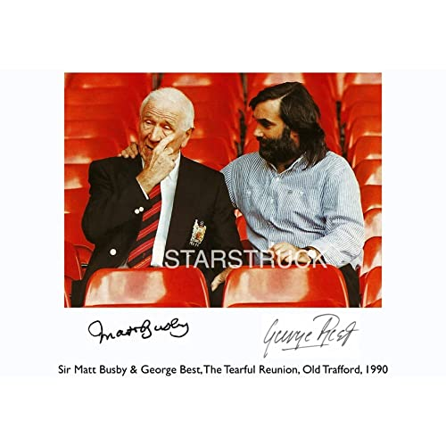 49a538249 Manchester United FC Legends George Best and Matt Busby Signed  (Pre-Printed) Exclusive