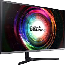 Samsung UH850 Series 31.5 inch 4K QHD 3840x2160 QLED Desktop Monitor for Business, AMD FreeSync, DisplayPort, USB Hub, 3-Y...