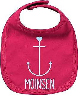 EZYshirt Moinsen | Hamburg | Moin Moin | Anker Bio Baumwolle Baby Lätzchen