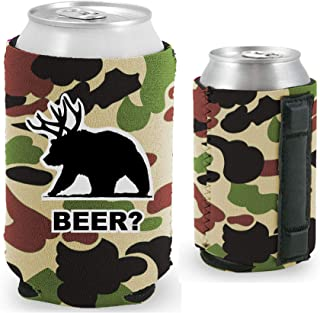 Beer Bear Magnetic Can Coolie (1, Camo)