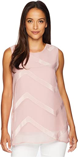 8dae30a0f639d Vince Camuto Specialty Size. Plus Size Sleeveless Sheer Chevron Mix Media  Tunic.  59.99MSRP   109.00. Pink Fawn