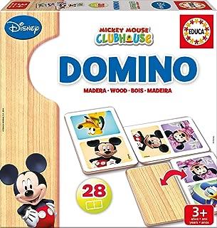 Educa Borrás Disney Dominó de Madera con Motivo de Mickey y Minnie, Color (16037)