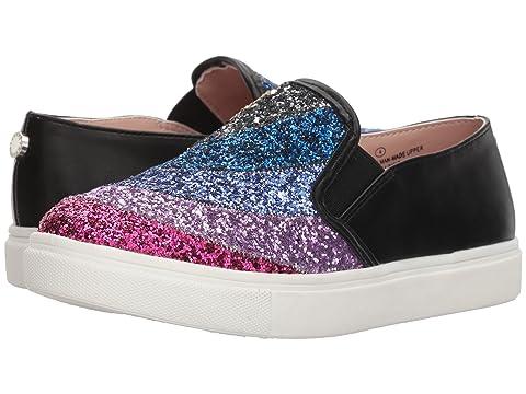 Girls Jwish Sneaker, Black/Multi, 1 M US Little Kid Steve Madden