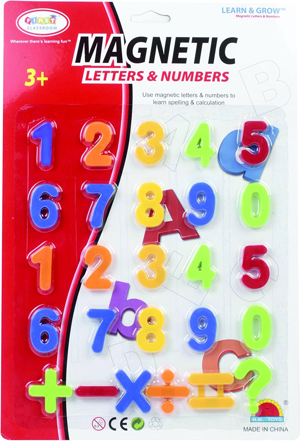 First Classroom OFFicial shop Magnetic Save money Numbers Symbols in Card a Blister 1.