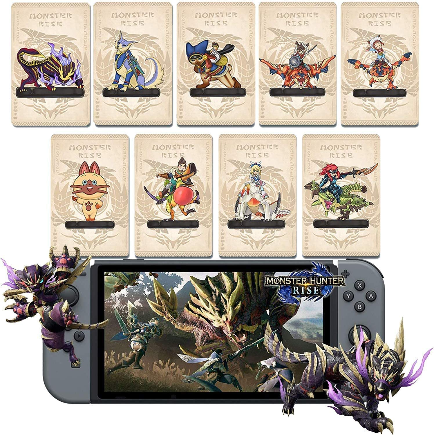 9 Pack Monster Hunter Rise NFC Amiibo Mini cas Crystal Card with Max Max 43% OFF 74% OFF