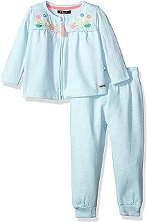 Kensie Little Girls Toddler 3 Piece Cami 2T Multi Tulle Chiffon Top with Denim Short