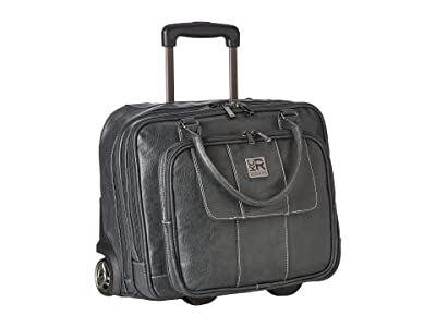 Kenneth Cole Reaction Pebbeled Vinyl Double Gusset Top-Zip Wheeled Computer Case (Gray) Computer Bags