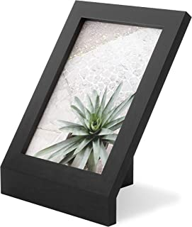 """Umbra Podium Layered angular picture frame for desktop and wall, 5""""x7""""(12.7x17.78cm), Black"""