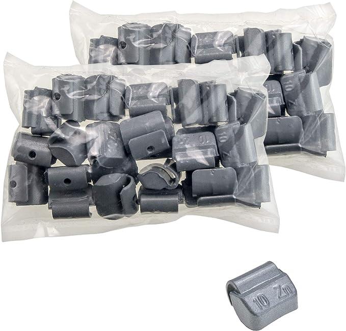 Stix 50x Schlaggewichte Stahlfelgen Auswuchtgewichte Zink Zn 10g Wuchtgewichte Für Stahlfelgen Auto