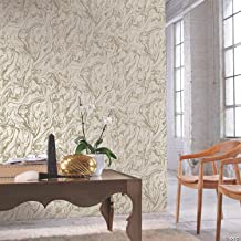 """Self-Adhesive Wallpaper Roll - 20.5"""" x 16.5'   Marble Gold   1 Pc."""