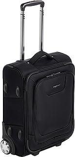 – Maleta blanda expansible apta para cabina de pasajeros con candado TSA y ruedas, 48 cm, negro