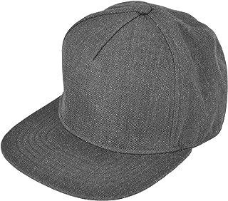 grey wool snapback