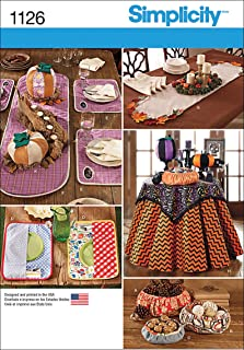 Simplicity 1126 Home Goods Table Accessories Sewing Pattern, Sizes Vary