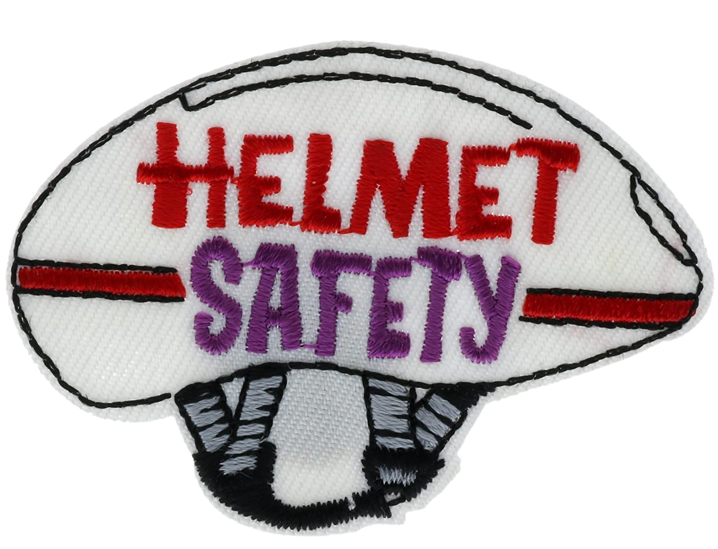 Helmet Safety Bike Skateboard Embroidered Patch 2 inch AVA3353
