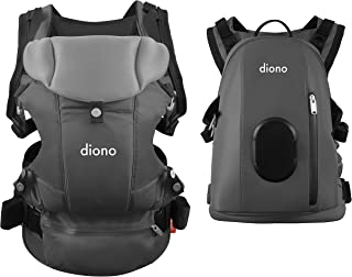 Diono Carus Complete 4-in-1 Child and Baby Carrying System with Detachable Backpack, Light Gray