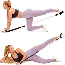 BOOTY BOOSTER: Booty Workout System. Butt Lift Exercise Equipment to Build, Firm and Sculpt your Bikini Curves. Fitness Kit Includes at Home Glute Guide, Travel Bag & 3 Premium Tushy Toner Booty Bands