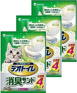 デオトイレ 1週間消臭・抗菌デオトイレ 取り替え専用 消臭サンド 4L×3個