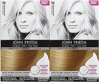 John Frieda Precision Foam Hair Colour, Light Ash Blonde 9A, 2 pk