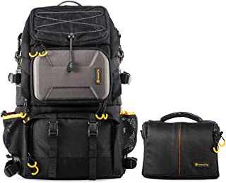 TARION Pro PB-01 Camera Backpack Large Capacity Photography Outdoor Traveling Multi-function Bag with associate Single Shoulder Camera Bag Case