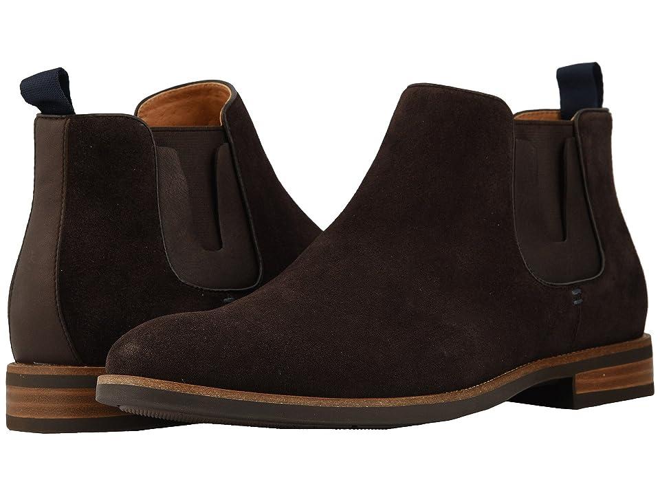 Florsheim Uptown Plain Toe Gore Boot (Brown Suede/Leather) Men