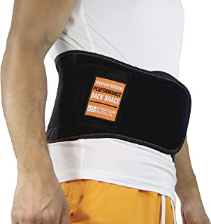 Lumbar Support Belt I Lower Back Brace by Everyday Medical I Targeted Lower Back Pain Relief for Back Spasms, Sciatica, Weight Lifting Waist Gym Belt for Sports I for Men and Women I Small/Medium