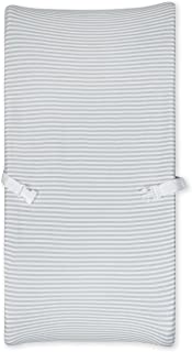 Gerber Baby Boys and Girls Newborn Infant Baby Toddler Nursery 100% Organic Cotton Jersey Changing Pad Cover, Grey Stripe,...