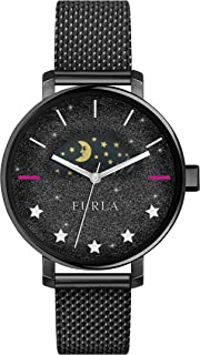 Furla Rea Black Sparkle Dial Ladies Mesh Watch R4253118503
