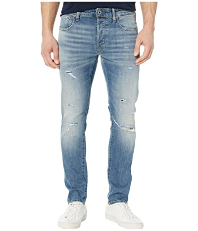 G-Star 3301 Slim Jeans in Worn in Ripped Blue Faded (Worn in Ripped Blue Faded) Men