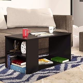 Klaxon Senin Engineered Wood Coffee Table/Centre Table, Tea Table (Black)