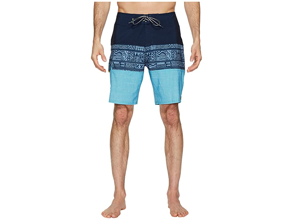 Quiksilver Waterman Fairway Tri Block Boardshorts (Dark Denim) Men