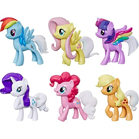 Amazon.com: My Little Pony Toy Rainbow Tail Surprise -- Collection Pack Of  6 3