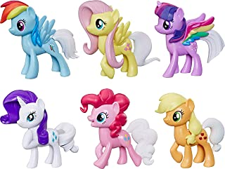 My Little Pony Toy Rainbow Tail Surprise -- Collection Pack of 6 3-Inch Pony Figures with Color-Change Features, Kids Ages 3 Years Old and Up