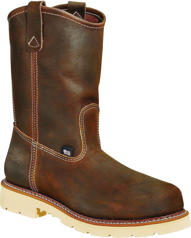 Thgoldgood Men's 11  Wellington Non-Safety Leather Work Boots