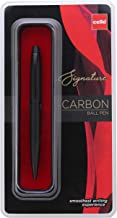 Cello Signature Carbon Ball Pen - Blue | Classy matte black finish ball pen | Premium metal pen for gifting