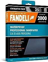 """Fandeli 36008 2000 Grit Waterproof Sandpaper Sheets, 9""""  x 11"""", 25-Sheet"""