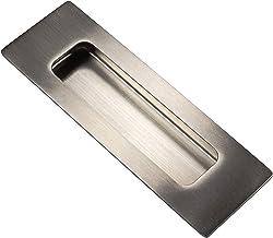 Tirador cuadrado para muebles Gedotec Future 160 mm, para puertas de armarios y armarios de cocina, metal niquelado negro pulido, 1 unidad