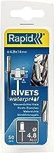 Rapid 5000402 4,8 x 14 mm blindklinknagel waterdicht 50 stuks incl. boor, ø4,8 mm