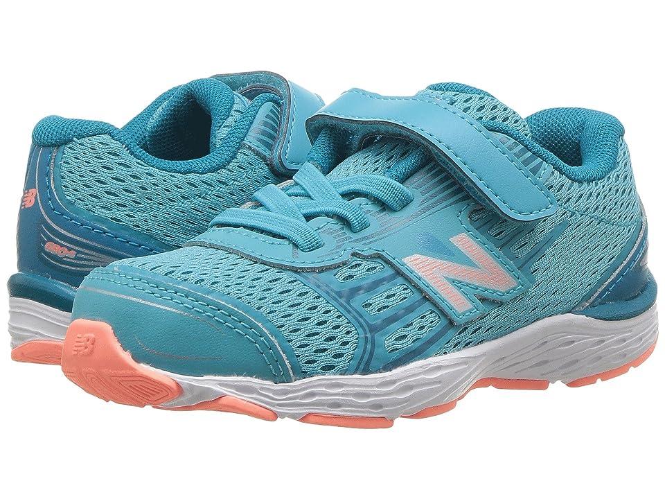 New Balance Kids KA680v5I (Infant/Toddler) (Ozone Blue/Fiji) Girls Shoes