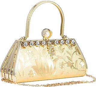 Molshine Vintage Evening Handbag,Mosaic Rhinestone Shoulder Bag,Classic Fashion Totes, Party Clutch Purse for Women Girl H...