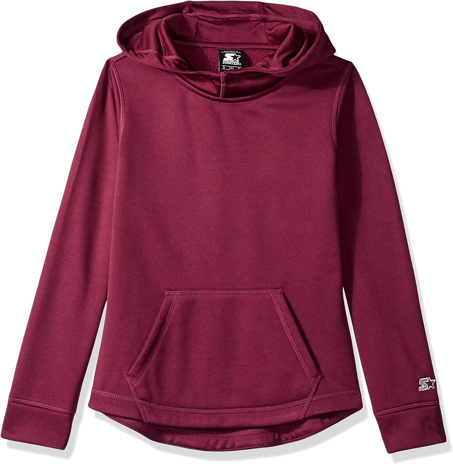 7//8 Starter Girls Solid Zip-Up Hoodie M Exclusive Team Maroon