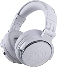 Sponsored Ad - 2CANZ Pro Matte White Over-Ear Professional Wired DJ Headphones - Enhanced 50mm Neodymium Drivers, Closed B...