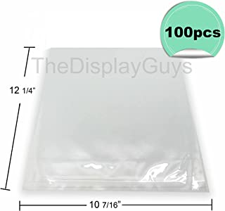 """The Display Guys, 100 Pcs 10 7/16"""" x 12 1/4"""" Clear Self Adhesive Plastic Bags for 10x12 inches Picture Photo Framing Mats"""