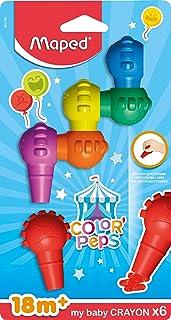 أقلام تلوين ماي بيبي سهلة الإمساك من مابد كولور-بيبس، ألوان متنوعة، مجموعة من 6 قطع